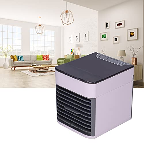 Eulbevoli Humidificador de Aire, plástico ABS portátil del refrigerador de Aire para el Dormitorio del hogar de la Oficina del Coche