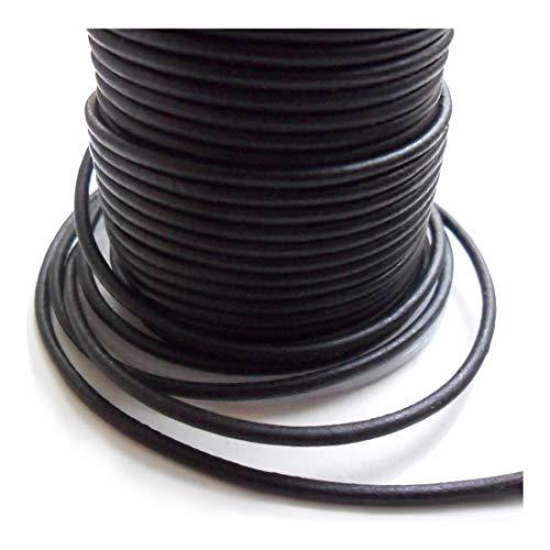 AURORIS - 5m Lederband rund - Ø 1mm - matt-schwarz
