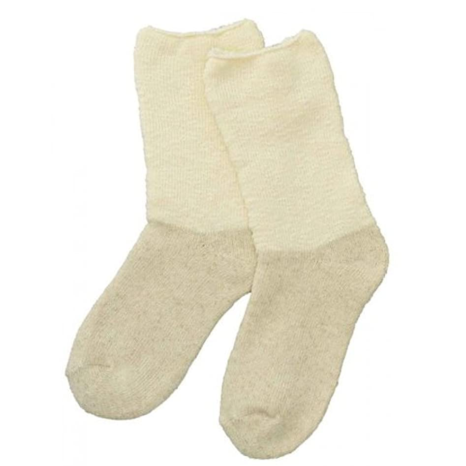 臨検国際怖がって死ぬCarelance(ケアランス)お風呂上りのやさしい靴下 綿麻パイルで足先さわやか 8706CA-31 クリーム