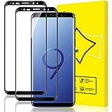 GiiYoon Protector de Pantalla [2 Piezas], Alta Definicion Vidrio Templado HD Protector para Samsung Galaxy S9,[Cristal Templado 3D Curvo] [Sin Burbujas] [Cobertura Completa] [9H Dureza]