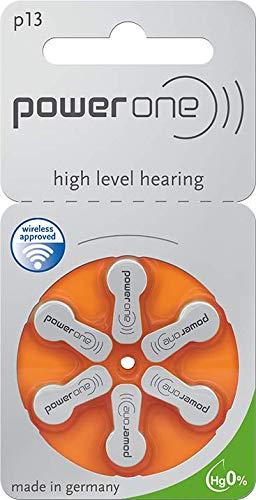 10 Blister - 60 Stück Powerone Hörgerätebatterien Typ 13 P13 PR48 ZL2 mit 2 Stück LUXTOR® Reinigungstücher für Hörgeräte und Otoplastiken