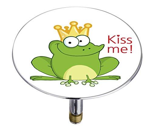 Wenko 21847100 Badewannenstöpsel Pluggy XXL Froggy, Abfluss-Stopfen, für alle handelsüblichen Abflüsse, Kunststoff, 7,5 x 6 x 7,5 cm, mehrfarbig