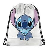 Etryrt Mochila de Cuerda Bolsas de Gimnasia Stitch Gym Backpack Shoulder Bags Sport Storage Bag for Man Women