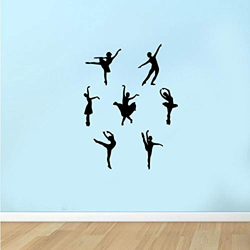 Ballerina Dancing Girl Sports Decoration Wall Sticker Home Gym Background Wall Decoration Wall Sticker