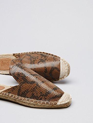 FIND Slippers Damen Espadrille-Design, Mehrfarbig (Snake) - 4