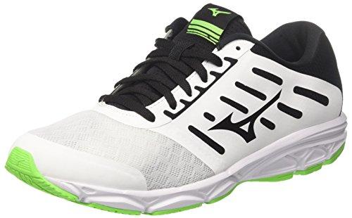 Mizuno Ezrun, Zapatillas de Running para Hombre, Multicolor (White/Black/Greengecko 09), 43 EU