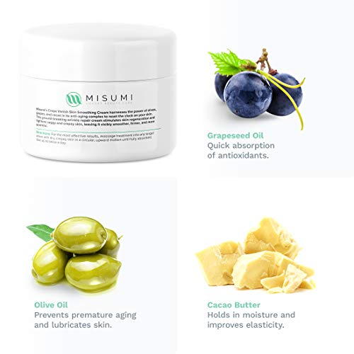 41KWxu1wRiL - Misumi Skincare Crepey Skin Repair Treatment Cream - For Face, Neck, Arms & Legs - 4oz Tub - Erase Saggy Skin With Anti Wrinkle Crepe Formula - Anti Aging Body Firming Lotion for Loose Skin