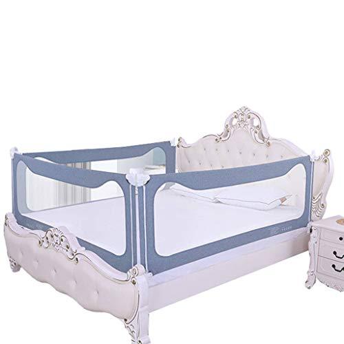 Bed Vangrail Extra Lange Hek Verticale Lifting Draagbare Guard Valbescherming Met Slot, Geschikt Voor Reizen En Familie,Gray,190cm
