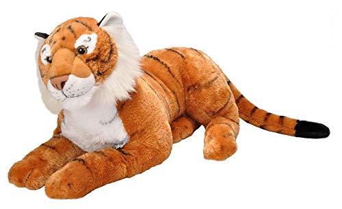 Wild Republic 19547 Jumbo Plüsch Tiger, großes Kuscheltier, Plüschtier, Cuddlekins, 76 cm