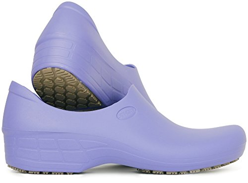 Sticky Comfortable Work Shoes for Women - Nursing - Chef - Waterproof Non-Slip Pro Shoes (Lilac, 8)