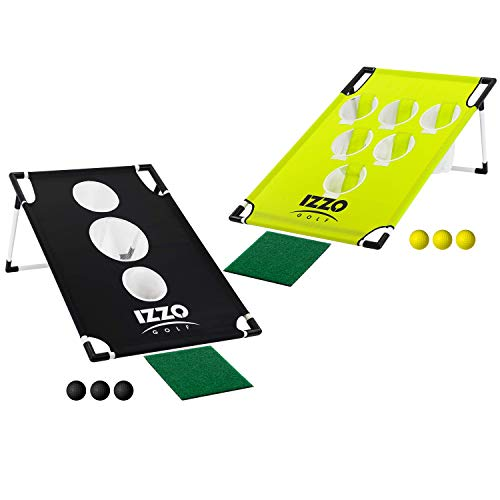 Izzo Golf Pong-Hole Chipping Practice & Gaming Set, Black -  A10072