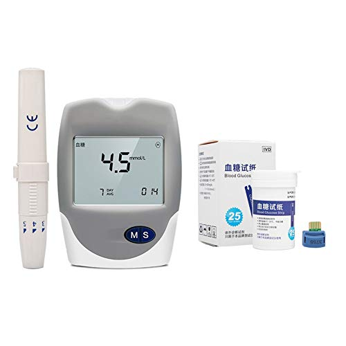YUIOP 3in1 Messgerät Cholesterin Test Harnsäure, Multi Analysieren Meter Test Blut-Glukose mit Teststreifen (Color : Test Meter+50 Blood Glucose)