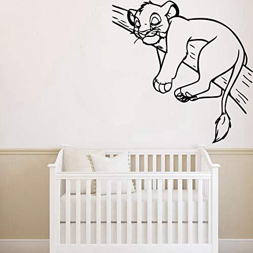 König der Löwen Wandaufkleber Kinderzimmer Diy kunst der könig der löwen wohnkultur moderne dekoration pvc wandtattoos für baby zimmer aufkleber wandbild schlafzimmer wandaufkleber