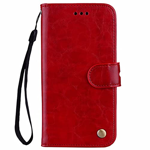 Nadoli Leder Hülle für Samsung Galaxy S21 Plus,Retro Ölwachs Premium Pu Leder Magnetverschluß Ständer Klapptasche Kartenfäche Flip Schutzhülle Tasche Brieftasche