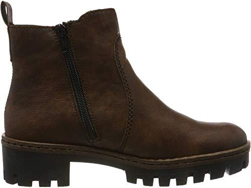 Rieker Damen Stiefeletten 75754, Frauen Chelsea Boots, elegant Women's Woman Freizeit leger Stiefel halbstiefel Lady,Mogano/Brown / 25,40 EU / 6.5 UK