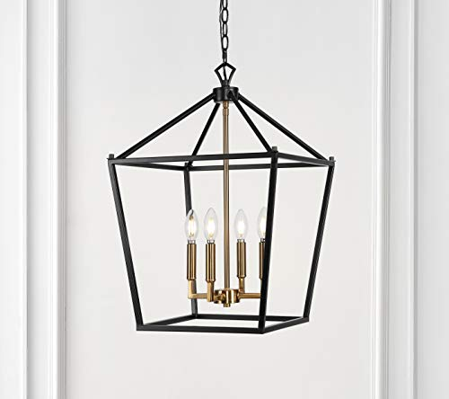 JONATHAN Y JYL7437D Pagoda Lantern Metal LED Pendant Classic Dimmable Cozy Warm Light for Kitchen Hallway Bathroom Stairwell, 4 Bulb, Oil Rubbed Bronze