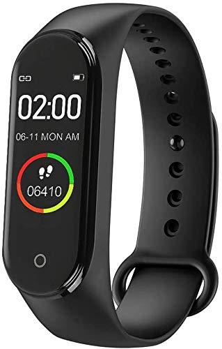 RAYPOW Pulsera Inteligente M4 · Pulsera Presión Arterial/Monitor de frecuencia cardíaca/Podómetro · Pulsera Deportiva, de Salud y Fitness