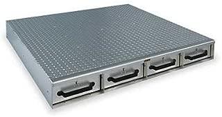 JOBOX 1404980 4-Drawer Long Floor Heavy-Duty Aluminum Drawer Storage - (48