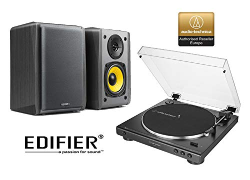Audio-Technica AT-LP60 Turntable and Edifier R1010BT Active Bluetooth...