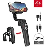 MOZA Mini-S Essential Foldable Phone Gimbal, Timelapse Object Tracking Zoom Vertigo Inception, 3-Axis Video Stabilizer for Smartphone Like iPhone Xs/Max/Xr/X/11 Huawei P20
