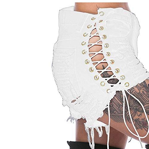 Moda para Mujer Ropa de Calle Suelta Casual Todo-fósforo Pantalones Cortos básicos Finos de Cintura Alta Pantalones Cortos básicos de Trabajo de Oficina de cercanías Informales M