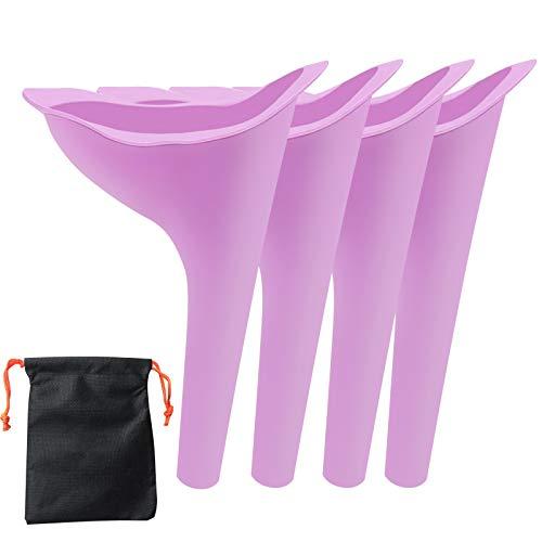ZOJI Urinella für Frauen, Weibliches Urinal Silikon Trichter Tragbares Urinal für Frauen Stehend Bis Pinkeltrichter Wiederverwendbarer Frauenurinal für Frauen, Outdoor, Aktivitäten, Camping