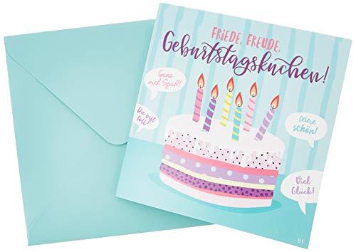 Depesche 3868.051 Glückwunschkarte mit Musik, Geburtstag, Mehrfarbig