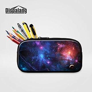 Gimax Cosmetic Bags & Cases - Dispalang Women Makeup Bag Toiletry Bag Universe Galaxy Pencil Case Stationery Storage Organizer Bag School Supplies Pencil Bag - (Color: Ivory)