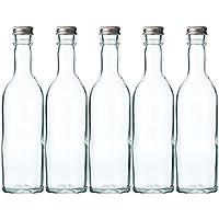 ワイン360 透明 ワイン瓶360ml -5本セット- (アルミCAP)