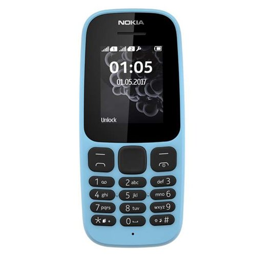 """Nokia 105 4,57 cm (1.8"""") 73 g Blu Caratteristica del telefono, Importato da Germania"""