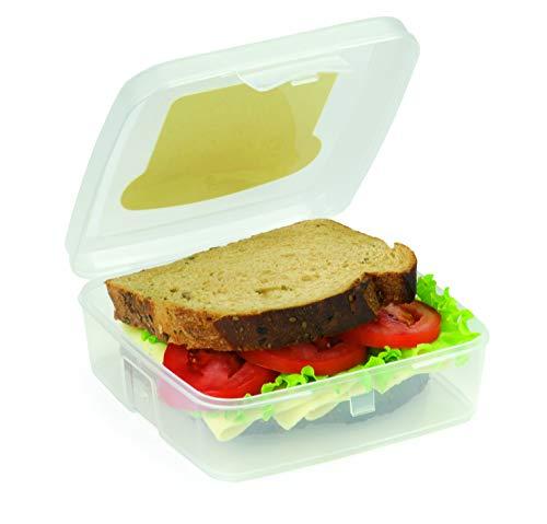 Snips Porta Sandwich-Contenitore Quadrato Trasparente, 14.5 cm