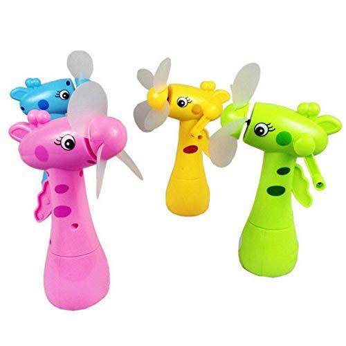 1PC Fan Kids Toy, Mini ventilador de pulverización de agua Manual Rotary Cooling Mist Cartoon Animal Niños Juguetes Regalo Educación Juguete para niños Niñas para 3 4 5 6 + años Juguetes de alta cali