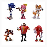 JoySee 6pcs Sonic The Hedgehog Action Figures, Cake Toppers, 5-7 cm