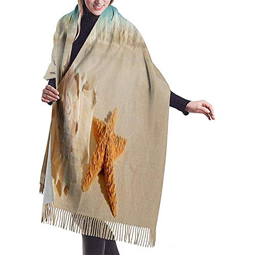 Elaine-Shop Damen Pashmina Schal Wrap Swans Woodland Glow Flies Winter Warme Decke Schal Lang Poncho