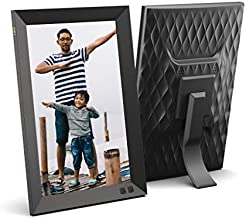 NIX 10.1 Inch Digital Picture Frame - Portrait or Landscape Stand, HD Resolution, Auto-Rotate, Remote Control - Mix Photos and Videos in The Same Slideshow