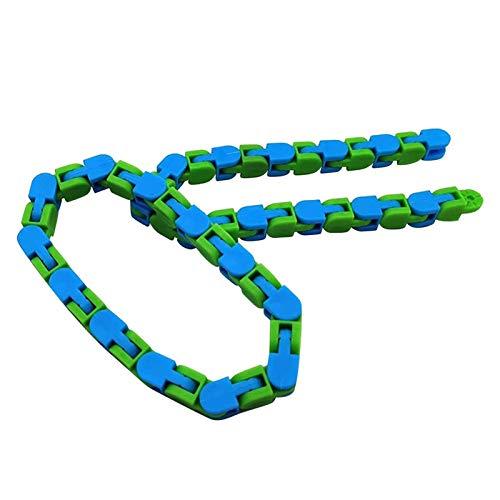 Aprimay Bicicleta Cadena Pista Alivio del Estrés Juguete Colorido Puzzle Sensorial Fidget Juguetes Alivio del Estrés Girar y Forma Dedo Juguetes
