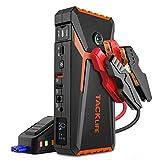 TACKLIFE T8 800A Peak 18000mAh Avviatore Batteria Auto con Display LCD (Fino a 7,0 Litri di Gas, Motore Diesel da 5,5 Litri), ripetitore per Batteria da 12 V con Cavo Smart Jumper (Arancione)