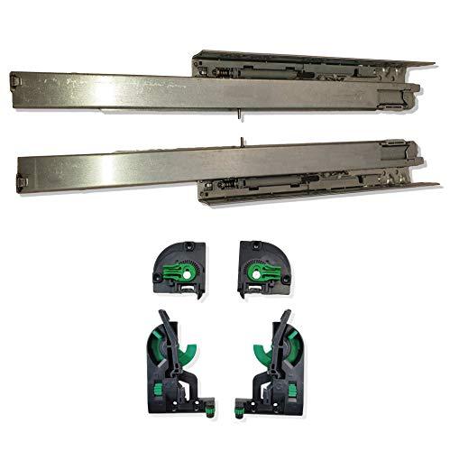 GRASS Vollauszug Dynapro Tipmatic (Push to Open) für Holzschubkästen, 40 kg, inkl. Kupplungen. Werkzeuglose 4D-Verstellmöglichkeit von UMAXO® (Nennlänge 270mm)