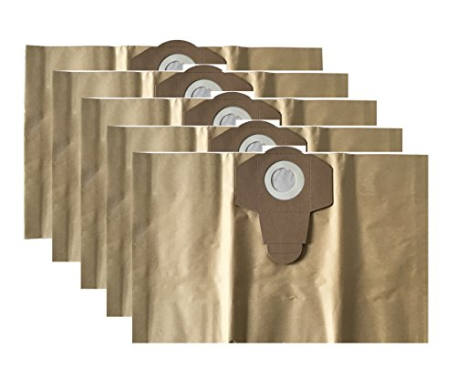 5 Staubsaugerbeutel / Schmutzfangsack / Staubbeutel passend für TOPCRAFT ALDI Nass Trocken Sauger 20 Liter