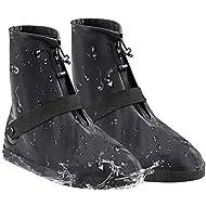 AMZQJD Reusable Waterproof Rain Shoe Boot Covers for Women Men