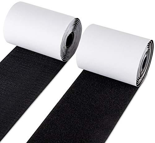 Anstore Industrie Klettband Selbstklebend Extra Stark Klettverschluss Selbstklebend, 10CM Breite 1.5 Meter Lang, Schwarz