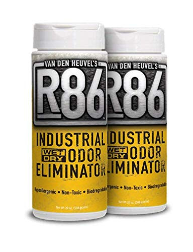 Van Den Heuvels R86 Industrial Odor Eliminator, All Purpose Odor Neutralizer, Ideal for Skunk and Pet Odor, Non-Toxic and Hypoallergenic, 2 Pack