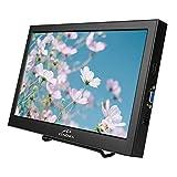Kenowa PC 16:9 - Monitor portátil de 13,3 Pulgadas con Pantalla HDMI VGA Externa para Ordenador/portátil/Raspberry Pi/PS3/PS4-XBOX, Carcasa de Aluminio, resolución HD 1366 x 768 60Hz