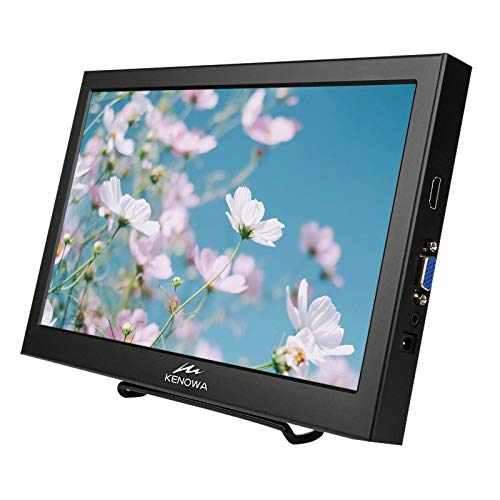 13.3 inch Portable Monitor,KENOWA PC 16:9 Display with HDMI VGA External Screen for Computer/Laptop/Raspberry pi / PS3/PS4 Xbox,Aluminum Housing,HD Resolution 1366x768 60HZ
