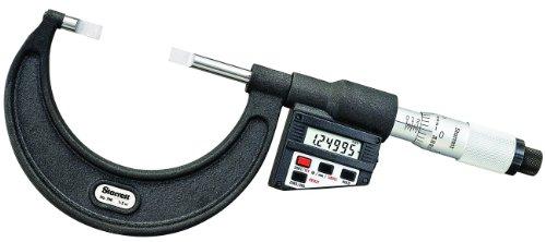 Starrett 786P-2 - Micrometro LCD tipo hoja, husillo no giratorio, dedal, rango de 1 a 2 pulgadas, graduación de 0 pulgadas