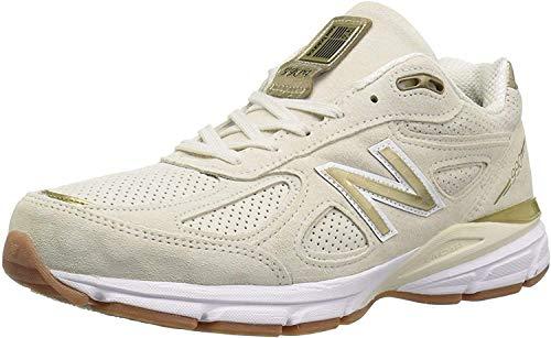 New Balance Men's 990v4 Sneaker, Angora/White, 12 Women/9.5