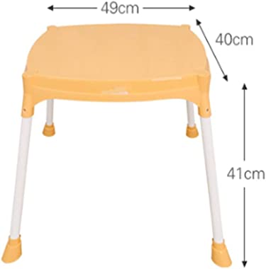 Children's Study Table Kids Table Children Plastic Furniture Table for Eat Learn, Read Play Draw in Nursery Boy and Girl Study Table (Color : Orange, Size : 49x40x41cm)