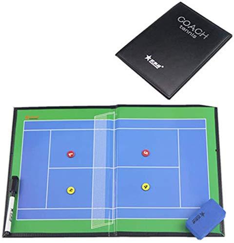 ZHXY Tablero de táctica de Tenis Suministros de Entrenamiento regrabables Tablero de Entrenador táctico magnético Tablero de Entrenamiento de Juego de Jugador