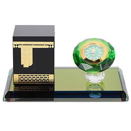 Adornos de escritorio islámicos, reloj electrónico de estilo islámico alimentado por batería de botón, exquisita colección de arte de decoración de mano de obra para festivales, cumpleaños, regalos