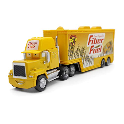 Pixar Cars Toys Lightning McQueen Jasckson Storm The King Mack Hauler Truck Diecast Toy Cars 1:55 Loose Kids Toys Vehicle (NO. 56 Fiber Fuel Hauler Truck)